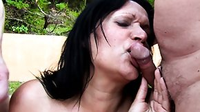 Big Blast, 3some, Big Cock, Blowjob, Cum, Cum in Her Eyes