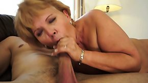 Old Lady, BBW, Blonde, Blowjob, Chubby, Chunky