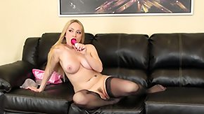 Aiden Starr, Big Tits, Blonde, Boobs, Dildo, Leggings