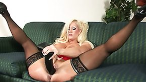 Sex Toys, Babe, Big Tits, Blonde, Masturbation, Nylon