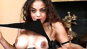 Stockings, Babe, Big Tits, Black, Black Big Tits, Boobs