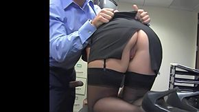 Office Stockings, Ass, Assfucking, Bend Over, Blonde, Doggystyle