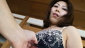 HD Japanese Granny Strips and Lets Guy Tease Her with a Vibrator