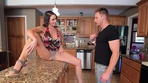 HD Raven LeChance tube Ordinary looking guy Levi Cash gets seduced by naughty brunette MILF Raven LeChance with tight butt large juggs in kissable clothes pleasures her in hardcore