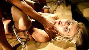 Bound Gangbang, Banging, BDSM, Blonde, Blowbang, Blowjob