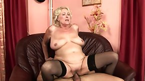 Granny, BBW, Big Tits, Blonde, Blowjob, Boobs