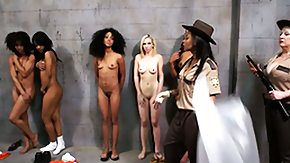 Prison HD porn tube Sizzling provocative dark-skinned dykes get it on in their jail cell after hours