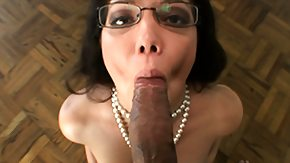 Oral, Babe, Blowjob, Brunette, Cum in Mouth, Cumshot