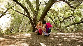 HD Hd Teen Blonde Sex Tube Blonde blooming rubs her girlfriend's cunt in the forest
