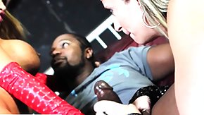 Interacial, 3some, 4some, Blonde, Blowjob, Brunette