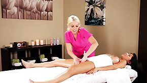 Masseuse, Babe, Blonde, Brunette, Fetish, Fingering