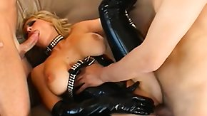 Latex, Big Cock, Blonde, Blowjob, Hardcore, Latex