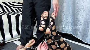 Free Nylon Feet HD porn Feet tickle amid nylon